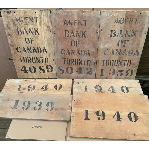1940's BANK OF CANADA CRATE ENDS - GOOD GRAPHICS