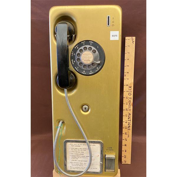 VINTAGE ROTARY PAY PHONE - TELETEK MANUFACTURING CO