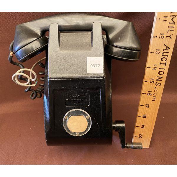 ANTIQUE BAKELITE CRANK DESIGN PHONE - NE MGT CO