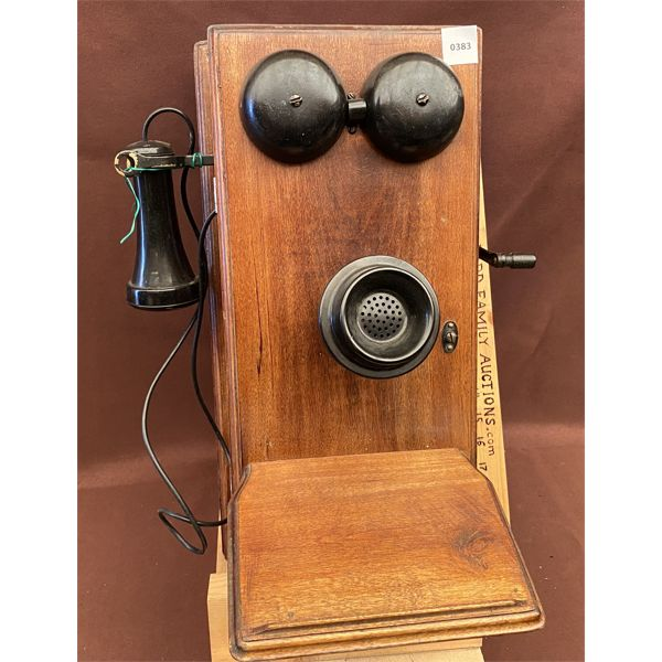 ANTIQUE WALL MOUNT TELEPHONE - NORTHERN MGT CO - 1919