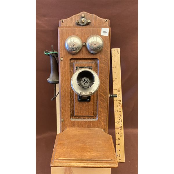 ANTIQUE WALL MOUNT TELEPHONE - MONARCH TELEPHONE MGT CO - 1910