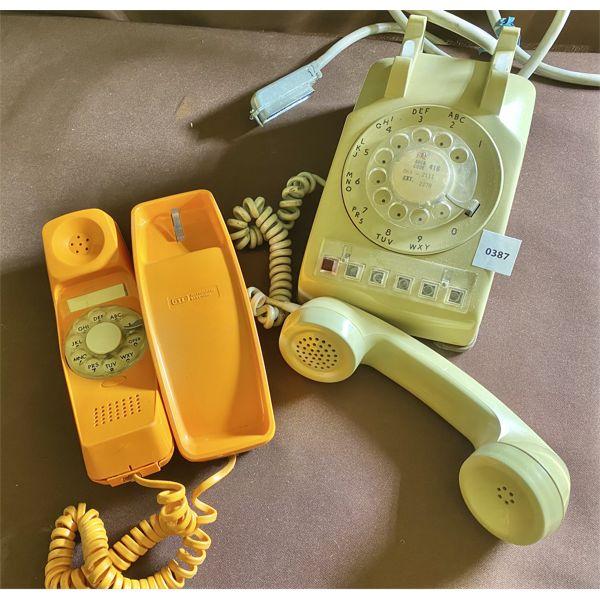 LOT OF 2 - VINTAGE ROTARY DESK TOP PHONES