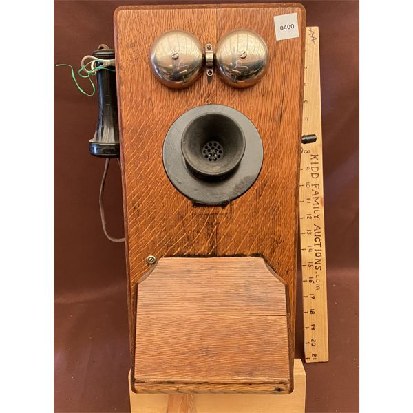ANTIQUE WOOD WALL PHONE - CENTURY DAY CALL
