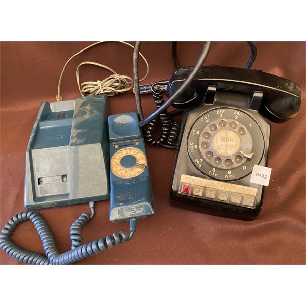 LOT OF 2 - VINTAGE ROTARY STYLE DESK PHONES
