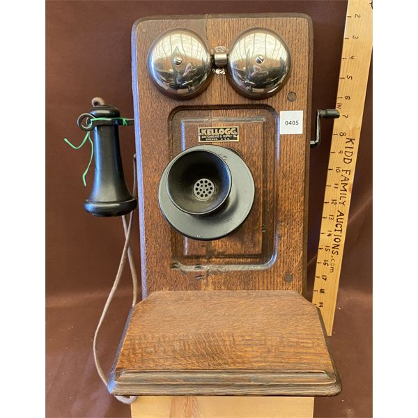 ANTIQUE WALL PHONE - KELLOGG SWITCHBOARD & SUPPLY CO