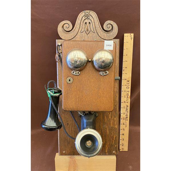 ANTIQUE WALL PHONE - WILLIAM ABBOTT MGT