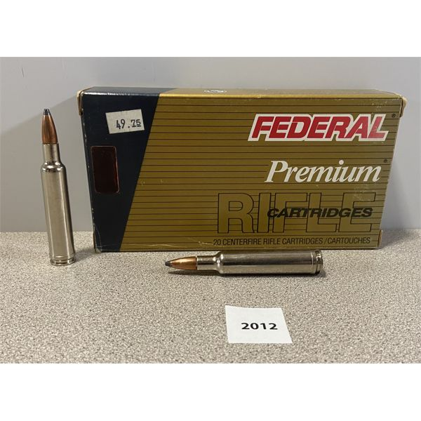 AMMO: 20X FEDERAL 7MM WBY MAG 160GR BTSP