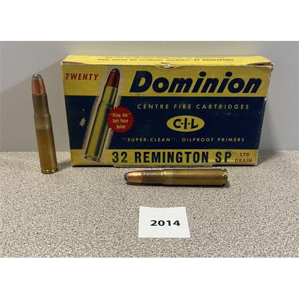 AMMO: 20X CIL 32 REM 170GR SP