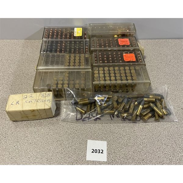 AMMO: APPROX 350X 22 LR MOSTLY CIL & IVI