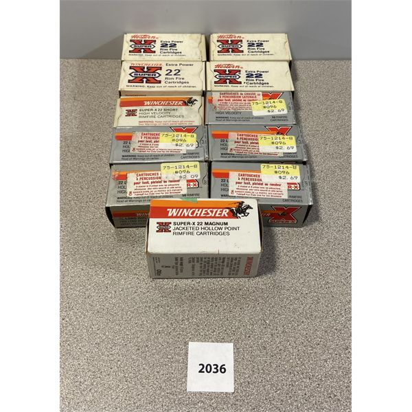AMMO: APPROX 550X WINCHESTER 22 LR