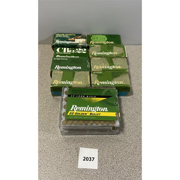 AMMO: APPROX 500X REMINGTON 22 LR