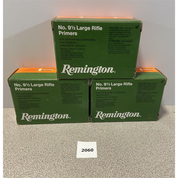 PRIMERS: 3000X REMINGTON LARGE RIFLE