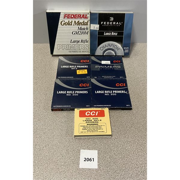 PRIMERS: 700X FEDERAL & CCI LARGE RIFLE