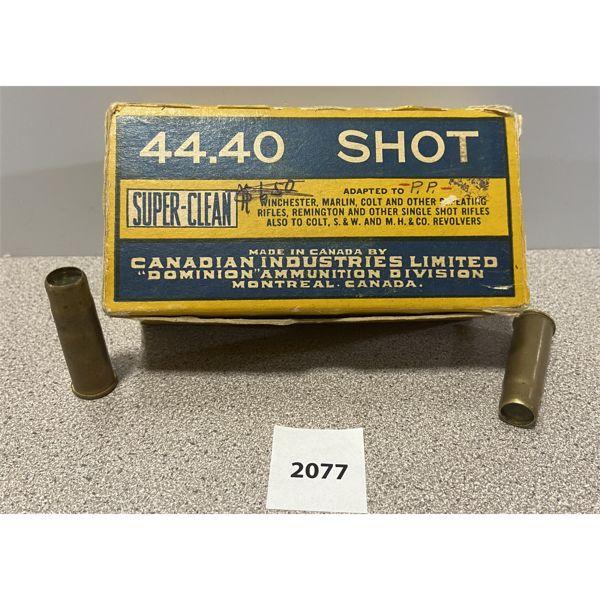 AMMO: 26X DOMINION 44-40 SHOT