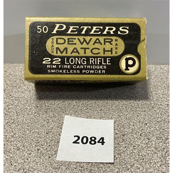 AMMO: 50X PETERS 22 LR