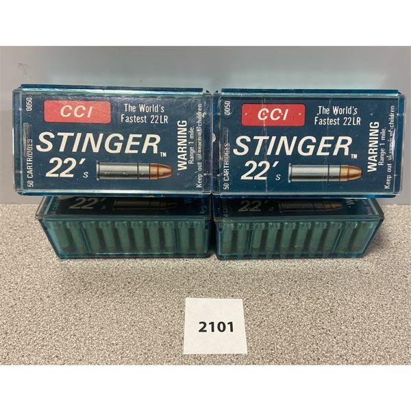 AMMO: 200X CCI STINGER 22 LR