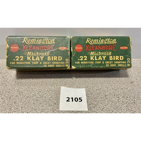 AMMO: 100X REMINGTON KLAY BIRD 22
