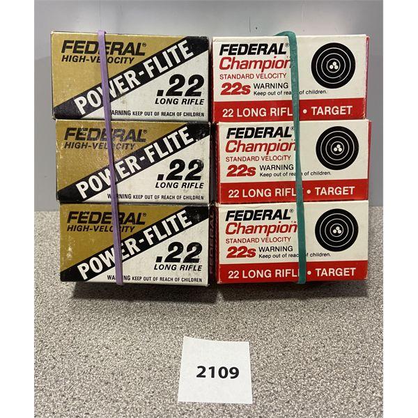AMMO: 300X FEDERAL 22 LR