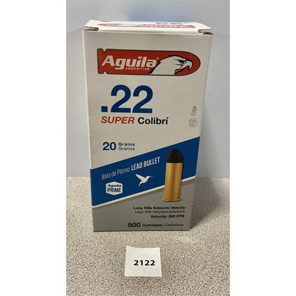 AMMO: 500X AGUILA 22 LR 20GR 590 FPS