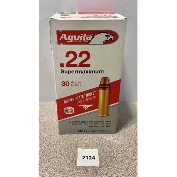 AMMO: 500X AGUILA 22 LR 30GR 1,700 FPS