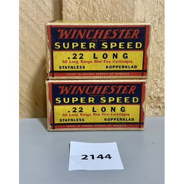AMMO: 100X WINCHESTER 22 LONG