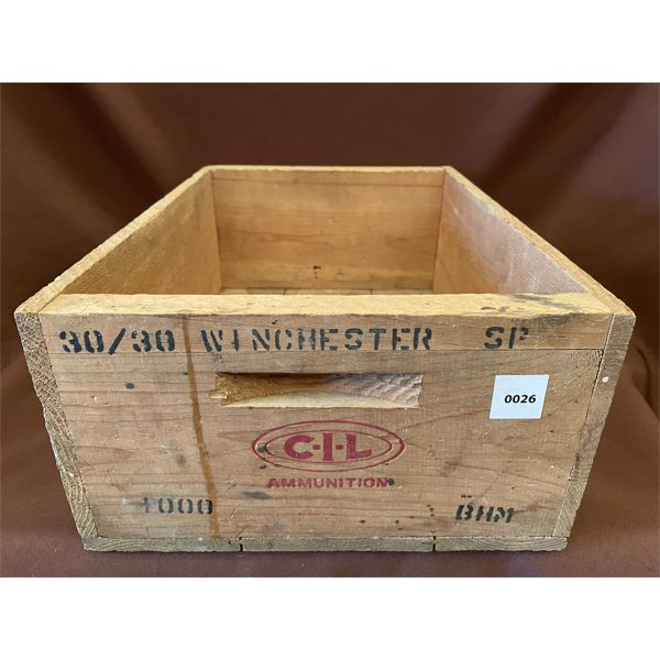 WOODEN CIL AMMO CRATE