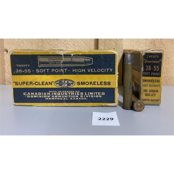 AMMO: 40X CIL 38-55 WIN 255GR MIXED BULLET TYPES