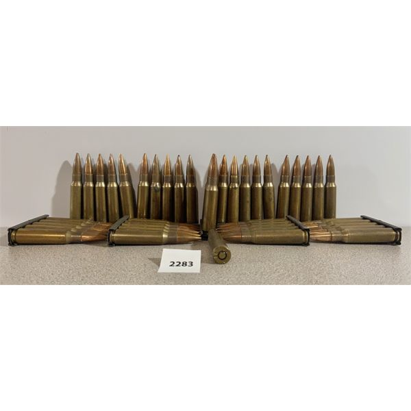 AMMO: 45X 7.62X51MM FMJ ON CLIPS
