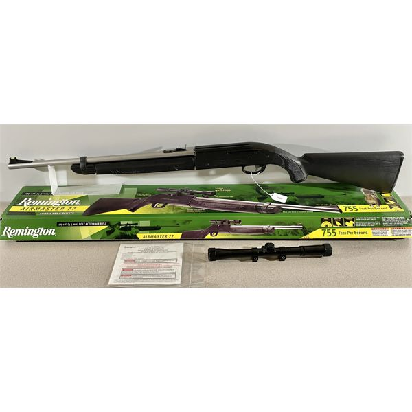 REMINGTON AIRMASTER 77 IN .177 PELLET OR BB - PAL REQUIRED