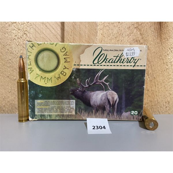 AMMO: 20X WEATHERBY 7MM WBY MAG 140GR PARTITION