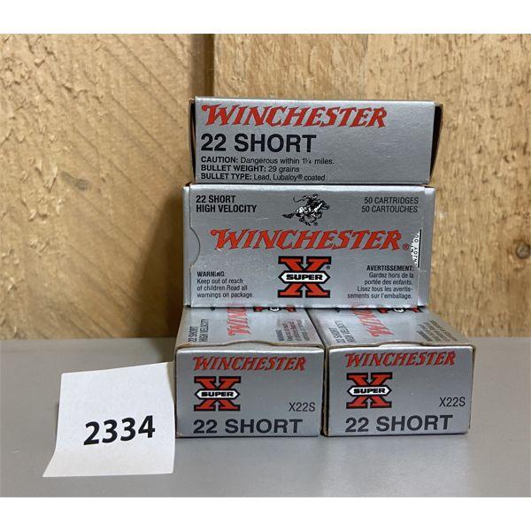 AMMO: 200X WINCHESTER 22 SHORT
