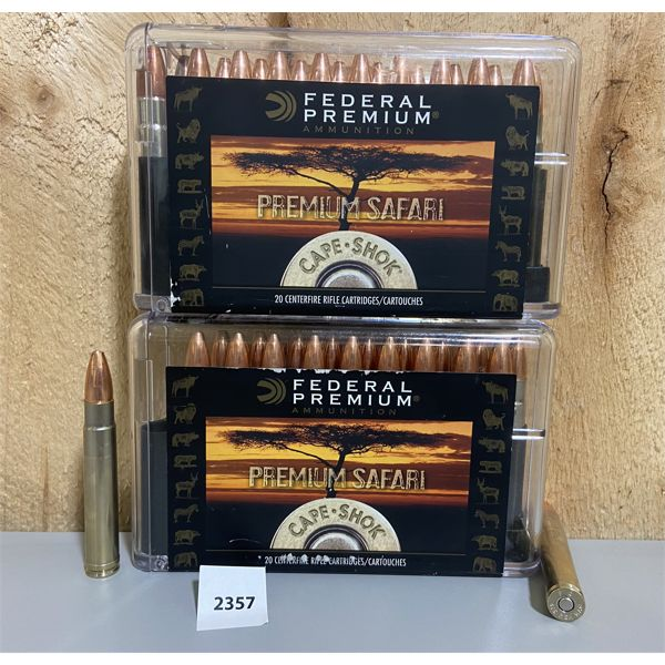 AMMO: 40X FEDERAL 416 REM MAG HOLLOW POINTS