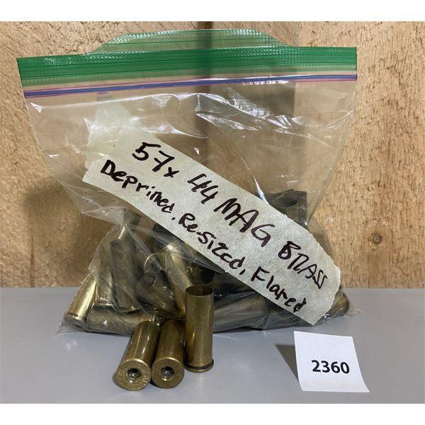 BRASS: 57X 44 REM MAG DE-PRIMED, RE-SIZED, FLARED