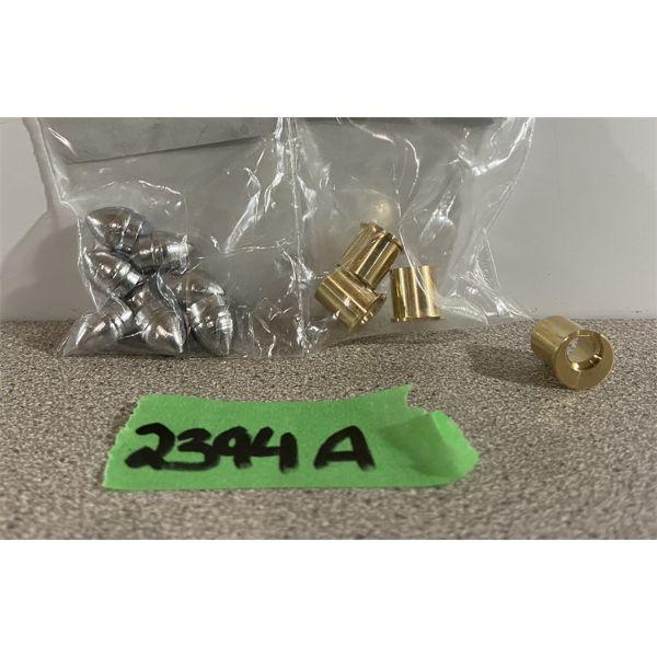 """BRASS & BULLETS: 4X 41 RIMFIRE & 8X .405"""" DIA 115GR HEELED"""