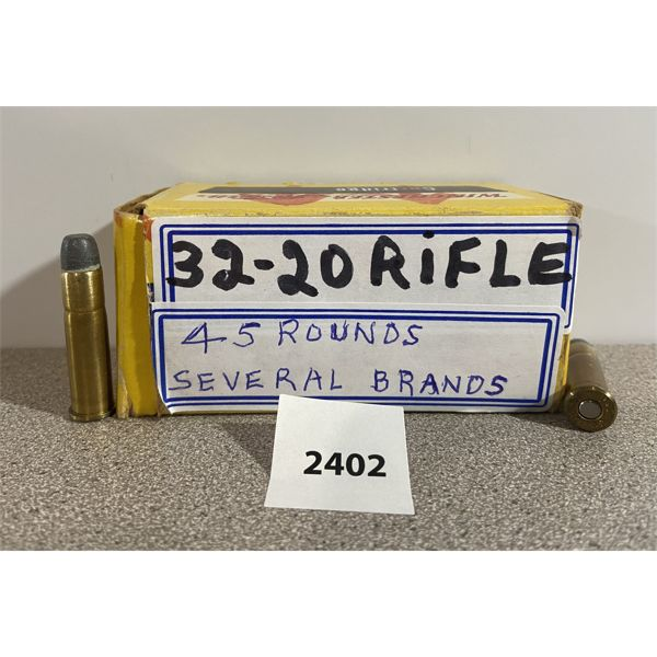 AMMO: 45X 32-20 WIN FOR RIFLE MIXED MAKES