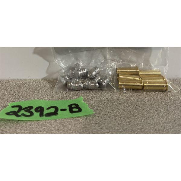 """BRASS & BULLETS: 6X 32 RIMFIRE & 12X .314"""" DIA 90GR HEELED"""