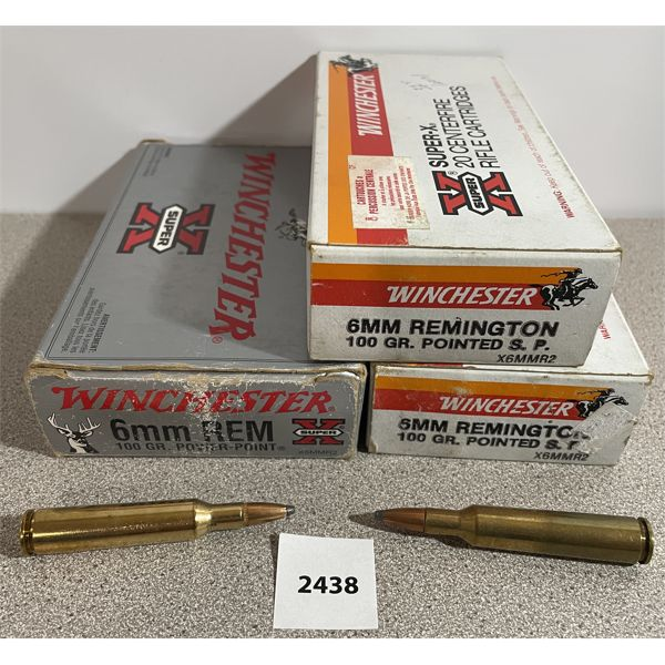 AMMO: 60X WINCHESTER 6MM REM 100GR