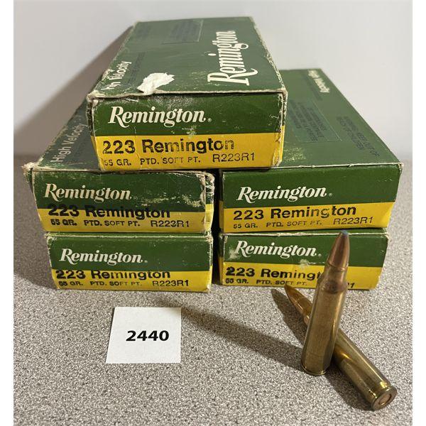 AMMO: 91X REMINGTON 223 REM 55GR