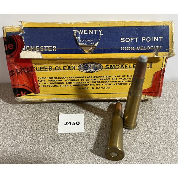 AMMO: 20X WINCHESTER 33 WIN SOFT POINTS