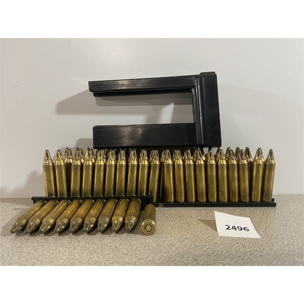 AMMO: 80X 5.56X45MM BLANKS ON CLIPS WITH SPEEDLOADER