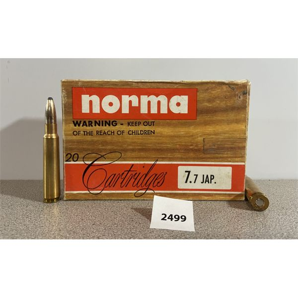 AMMO: 18X NORMA 7.7MM JAP 180GR SOFT POINT
