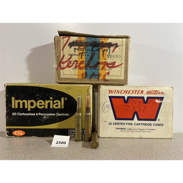 AMMO: 55X 7X57 MM (7MM MAUSER) MIXED TYPES