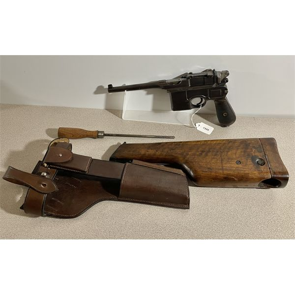 MAUSER MODEL 1896 BROOMHANDLE IN 7.63 MAUSER - RESTRICTED