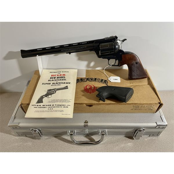 RUGER NEW MODEL SUPER BLACKHAWK IN .44 MAG - RESTRICTED CLASS
