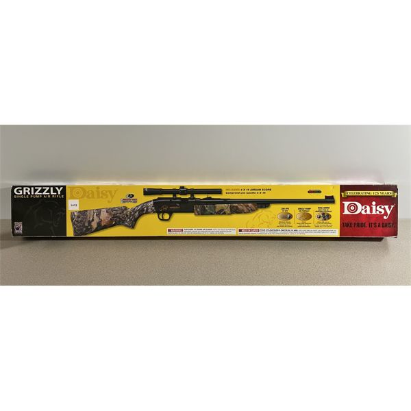 DAISY GRIZZLE IN .177 PELLET OR BB - 350 FPS - NO PAL REQUIRED - E AS NEW