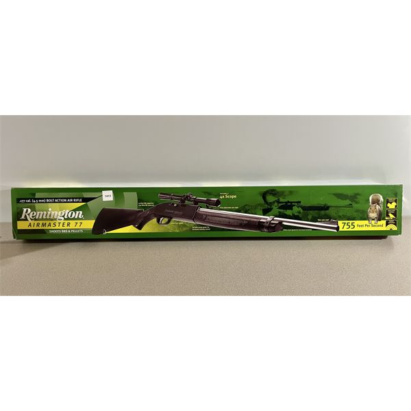 REMINGTON AIRMASTER 77 IN .177 PELLET OR BB - 755 FPS - PAL REQUIRED - E AS NEW