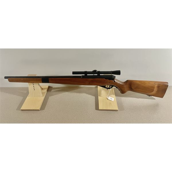 MOSSBERG MODEL 151 M IN .22 LR -  SPECS: NONE. EXTRAS: WEAVER 4 X SCOPE. CONDITION: VG OVERALL. BORE