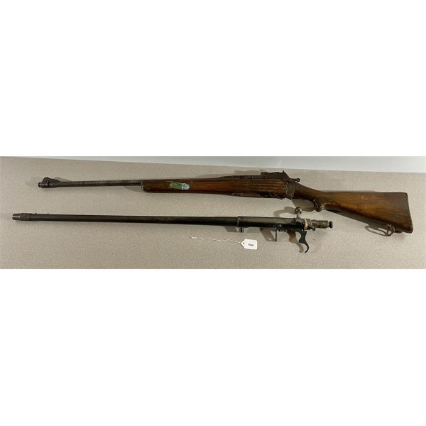 LOT OF 2 PARTS GUNS - ENFIELD NO 4 MK I IN .303 & MOSSBERG 85D 20 GA BARRELED ACTION.