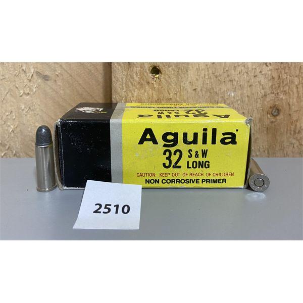 AMMO: 50X AGUILA 32 S&W LONG 98GR