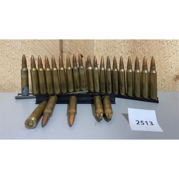 AMMO: 24X 5.56X45MM ON CLIPS- 2X ARE BLANKS